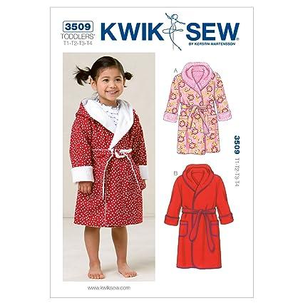 Amazon.com: Kwik Sew K3509 Robes Sewing Pattern, Size T1-T2-T3-T4 ...