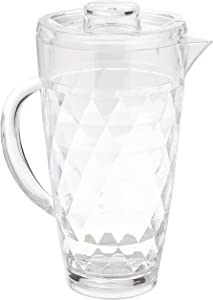 Prodyne Acrylic Diamond-Cut 70 oz. Pitcher with Lid