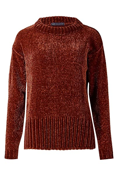 unequal in performance low cost shop for Ex Marks & Spencer M&S Crew Neck Chenille Jumper Size 8 Rust ...