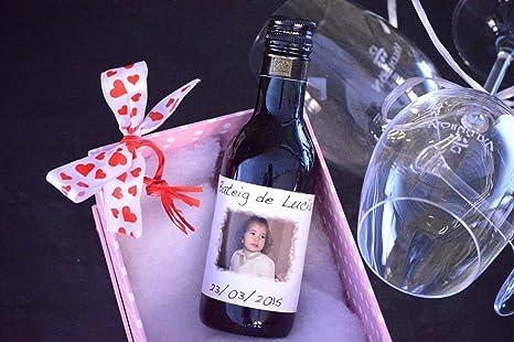 Botellas De Vino Para Regalar En Bautizos.Botella Personalizada Vino Para Regalo Bautizo Foto Borde