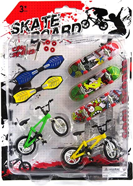 8PCS Tech Deck Finger Swing Board Bicycle Skateboard Kids Children Toys Gifts