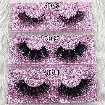 2711af97f8b Amazon.com: 25mm Long 5D mink lashes long lasting mink eyelashes Big  dramatic volumn eyelashes strip individual 3d false eyelash,C,0.15mm,5D45,Other:  Beauty