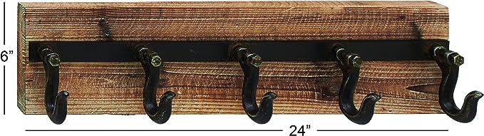 Deco 79 Wood Welcome Metal Wall Hook 32 by 10-Inch Black