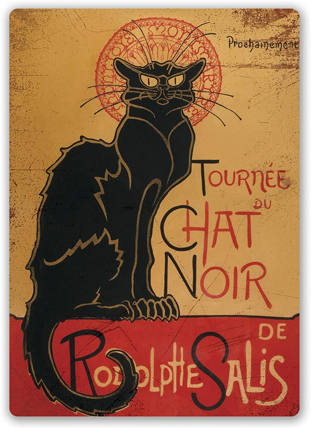 LORENZO Chat Noir Vintage Metal Cartel de Chapa Pared Hierro ...