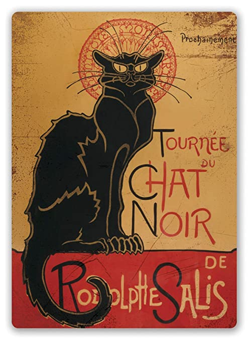 Chat Noir Póster de Pared Metal Creativo Placa Decorativa ...