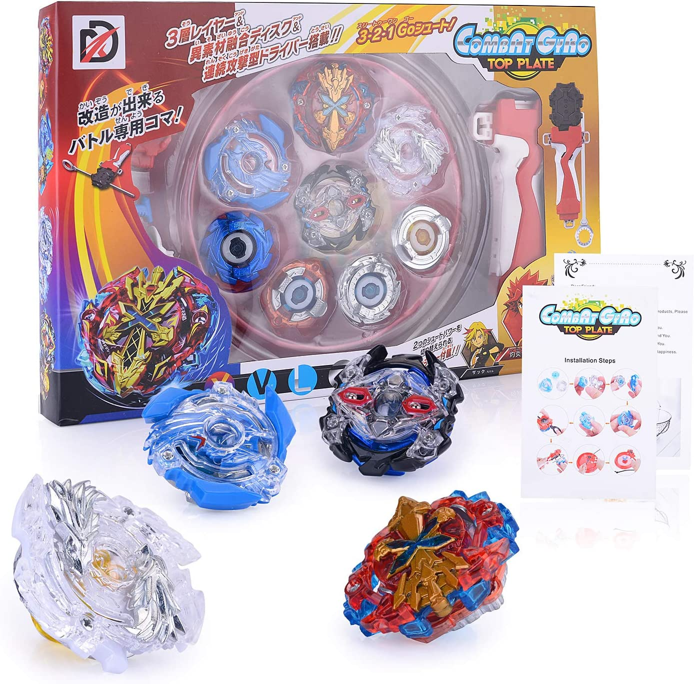 Surhomic Gyro Burst Peonzas, 4 Pcs Gyro Fight Master, Gyro Burst ...