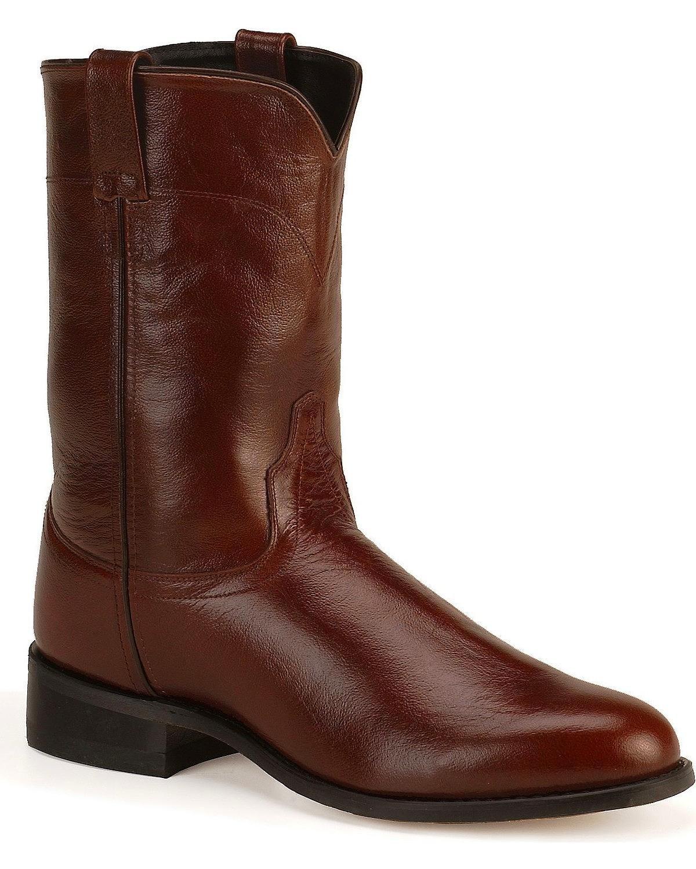 Old West Men's Leather Roper Cowboy Boot SRM4010