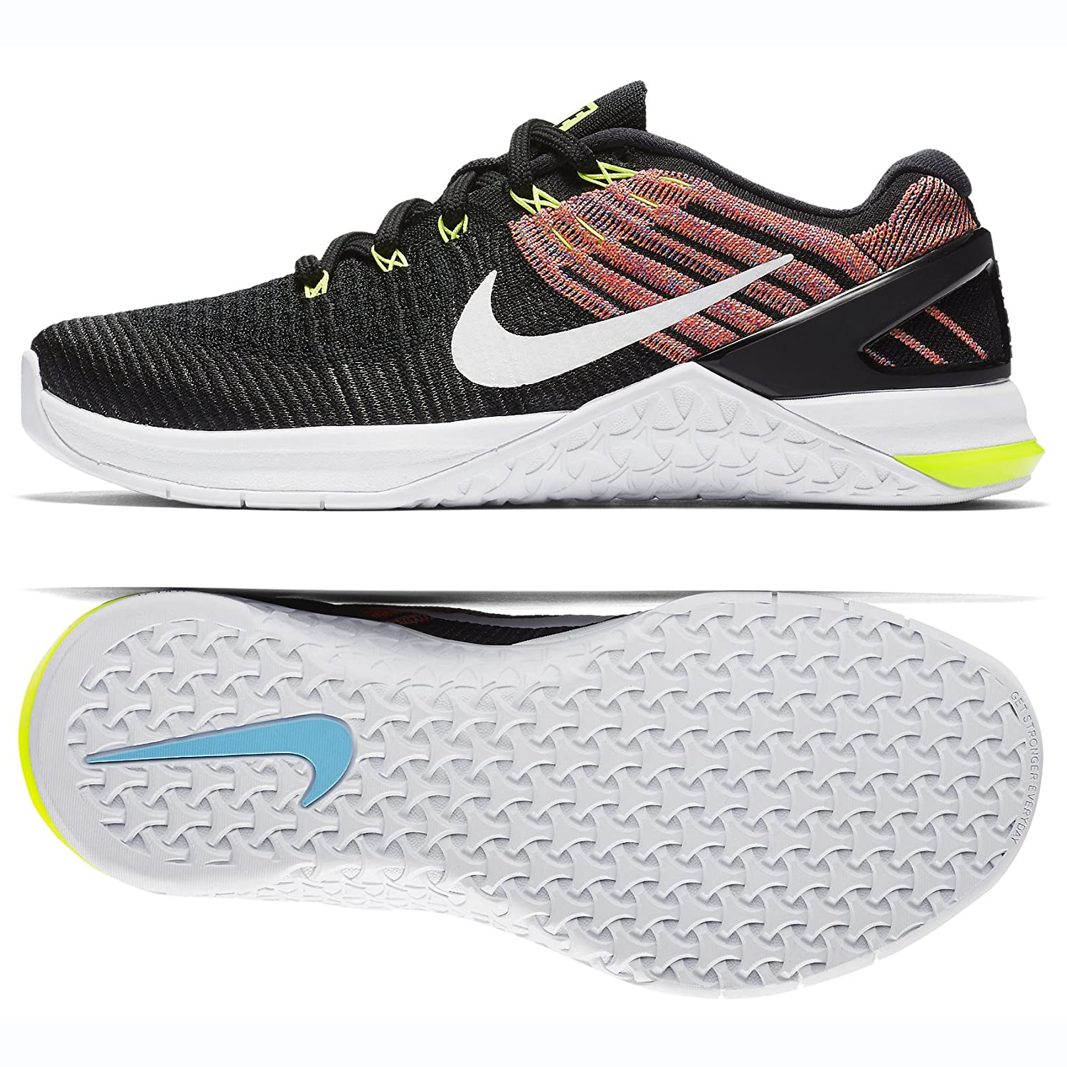 Nike Womens Metcon 3 Training Shoes B077QN1QY1 8.5 B(M) US|Black/White-volt-chlorine Blue