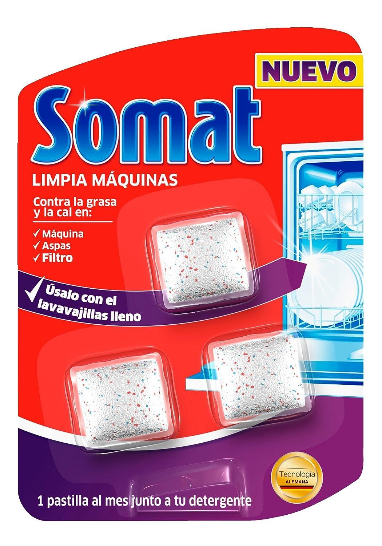 Somat Pastillas Limpiamáquinas - 3 Dosis: Amazon.es: Salud y ...