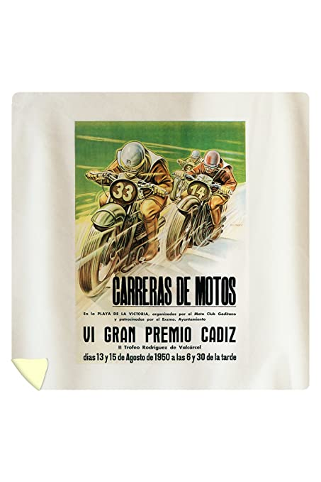 Lantern Press Motorcycle Racing - Vintage Advertisement 41256 (88x88 Queen Microfiber Duvet Cover)