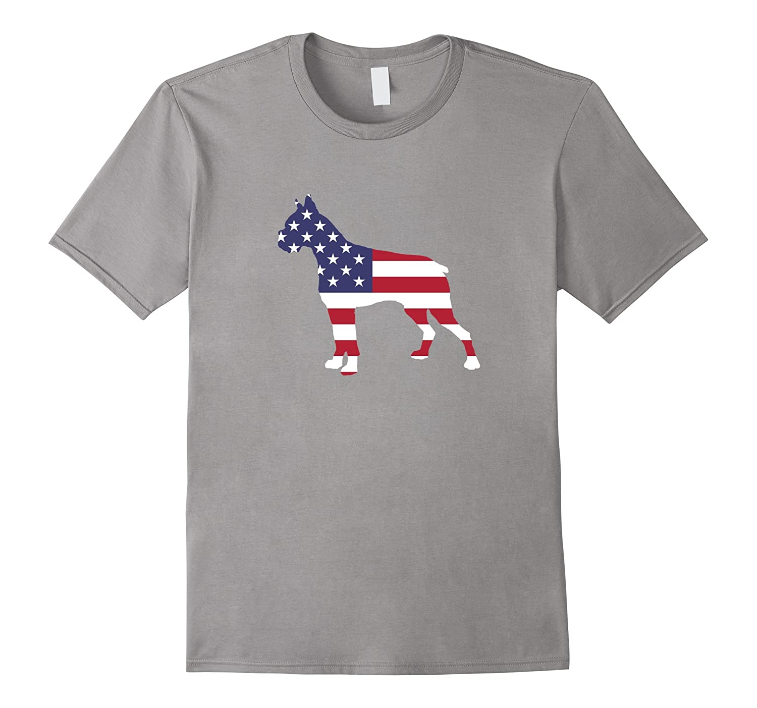 4th Of July Patriotic Dog Boxer Party T-Shirt-PL