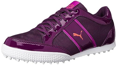 Womens Shoes PUMA Golf Monolite Cat Mesh Italian Plum/Purple Wine/Cayenne