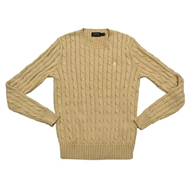 eb39544e53a1f4 Polo Ralph Lauren Womens Cable Knit Crew Neck Sweater: Amazon.in: Clothing  & Accessories