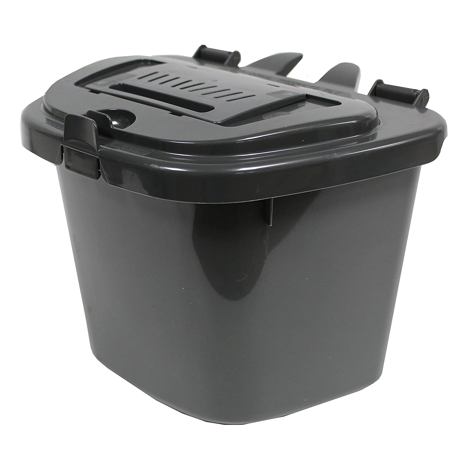 All-Green Dark Grey 5L Vented Kitchen Compost Caddy - Composting Bin for Food Waste Recycling