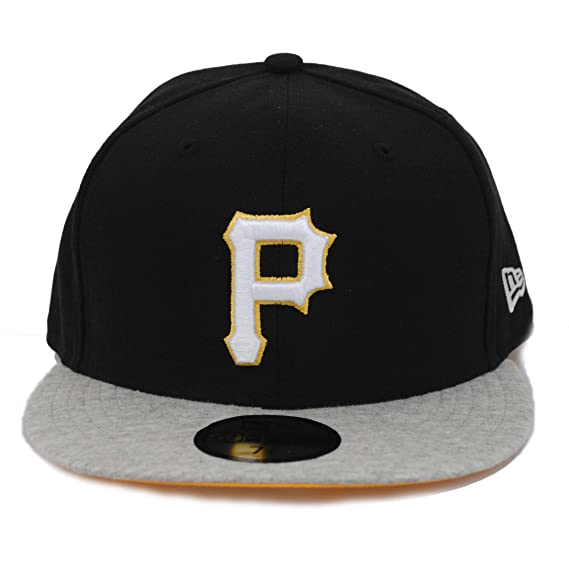 a4050b03194 New Era 59fifty Pittsburgh Pirates Jersey Team Heather Grey Flat Peak  Fitted Cap  Amazon.co.uk  Clothing