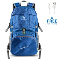 Pokarla 35L Foldable Durable Backpack Travel Hiking Daypack Ultra Lightweight Packable Carry On Bag Unisex Outdoor Sports