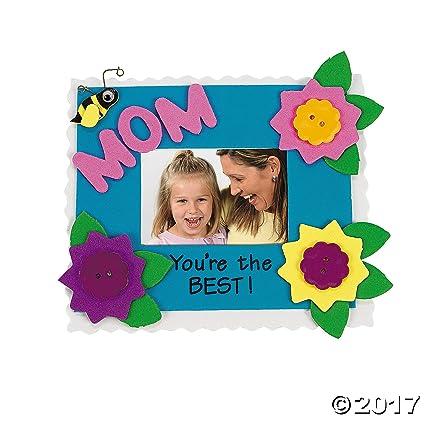 Amazon.com: Set of 12 Mom Photo Frame Magnet Craft Kit - Crafts for ...
