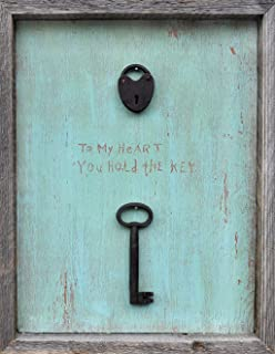 sugarboo designs art print ap132 to my heart you hold the key 15inch - Sugarboo