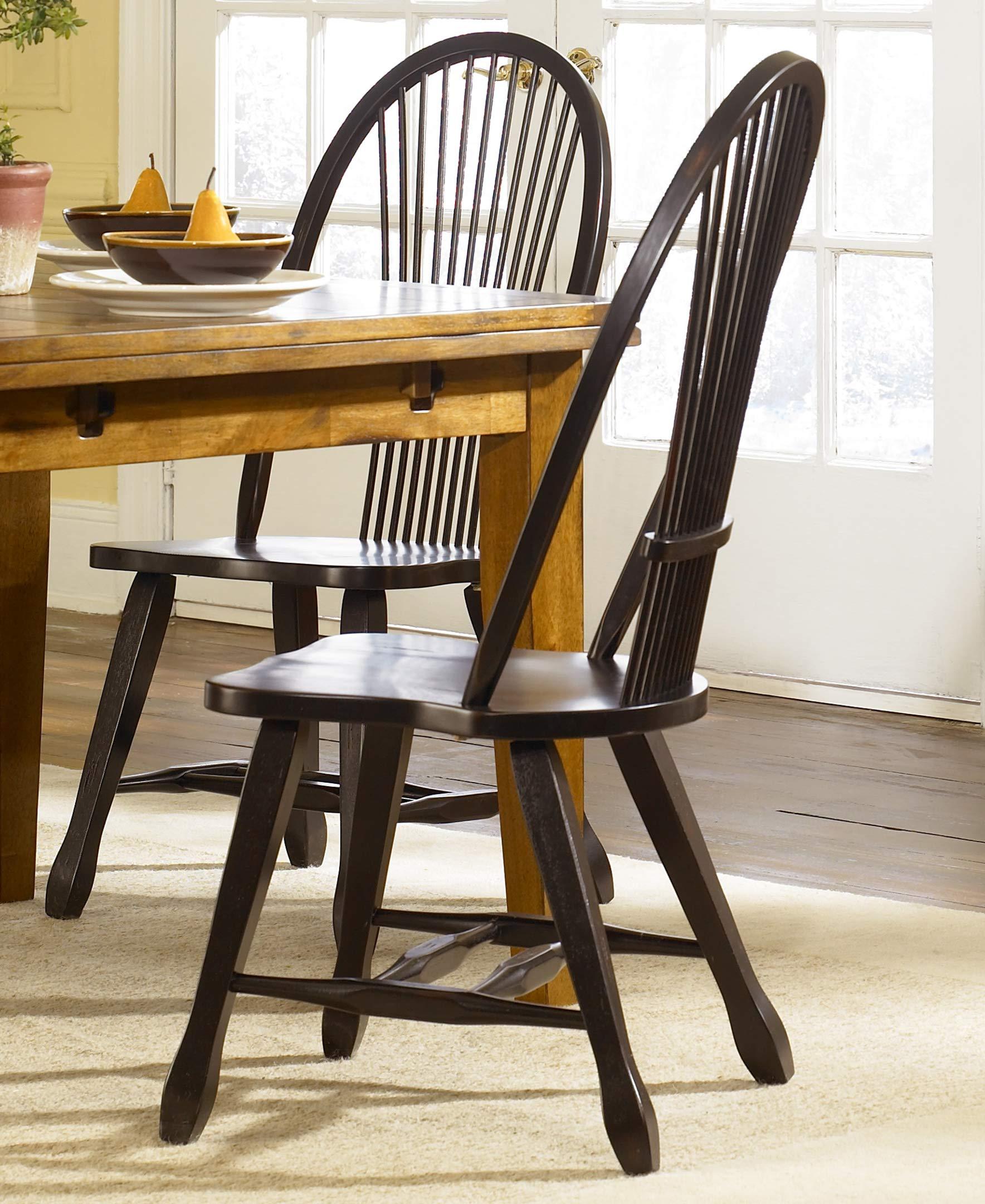 Liberty Furniture Industries Treasures Sheaf Back Side Chair - Black, W18 x D20 x H41, Medium Brown by Liberty Furniture INDUSTRIES