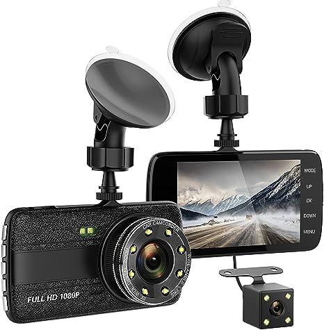 "Full HD 1080P 4/"" Dual Lens Car DVR Dash Cam Video Recorder Night Vision G-Sensor"
