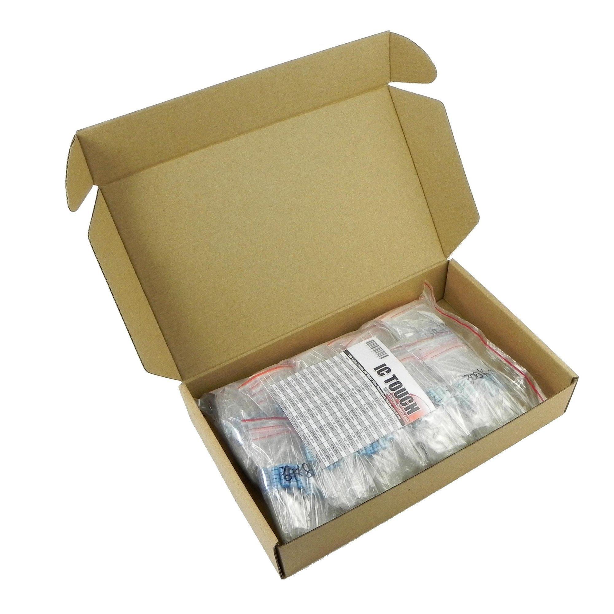 Ictouch 100value 500pcs 3W Metal Film Resistor +/-1% Assortment Kit KIT0145