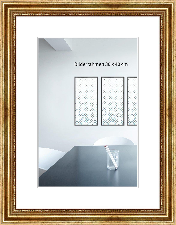 Holzrahmen Antik 24 x 30 cm gold Normalglas: Amazon.de: Küche & Haushalt