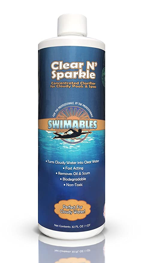 Swimables Clear N\' Sparkle Swimming Pool & Spa Clarifier 1 Qt - SW101