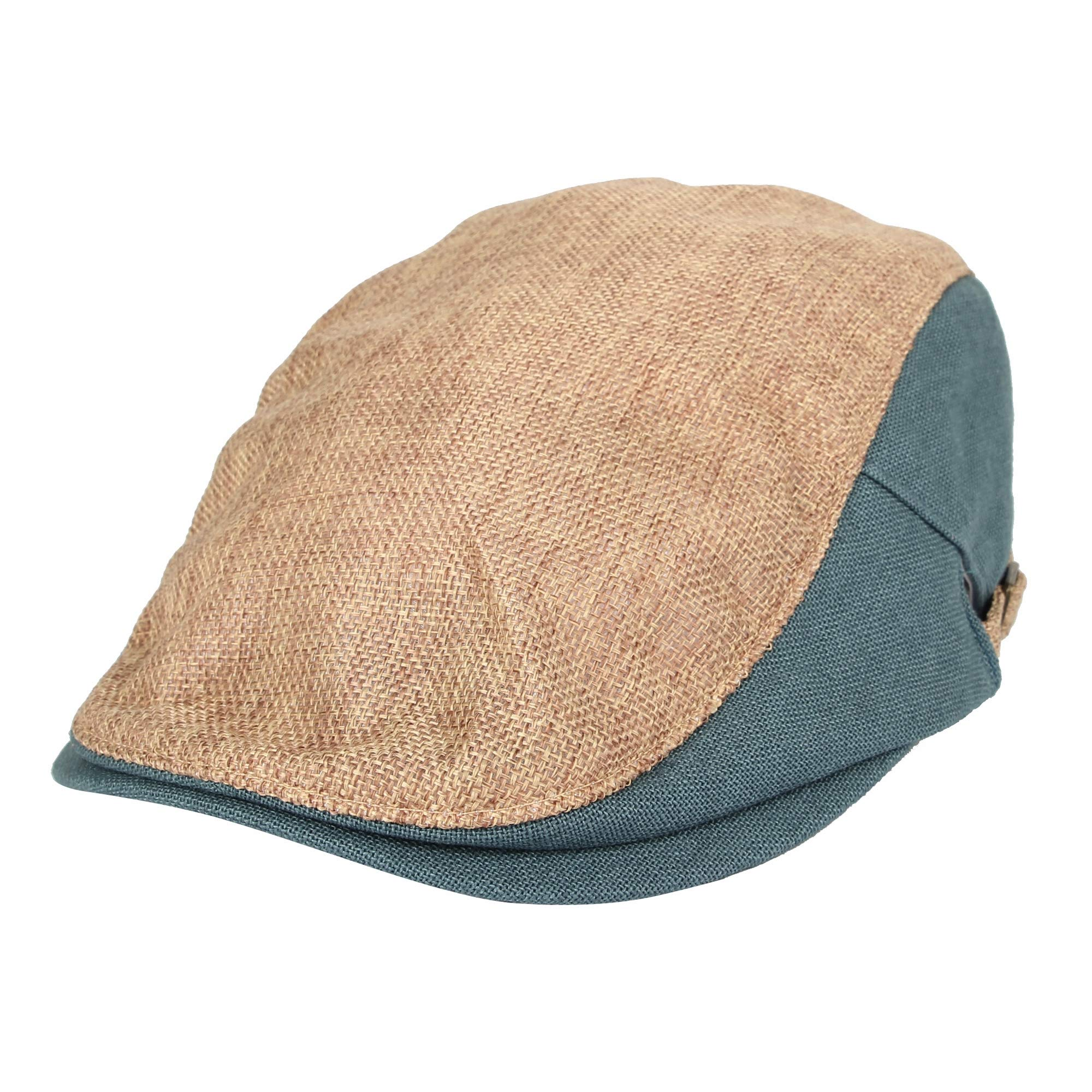 4ce6bef7 WITHMOONS Two Tone Block Summer Newsboy Hat Flat Cap AC3046 (Beige)
