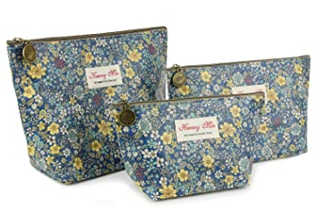 5c3c526ad193 Micom Retro Floral Waterproof Travel Toiletry Cosmetic Bags Set for  Women,girls
