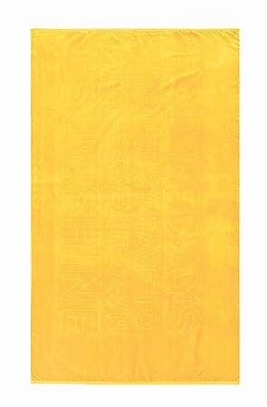 Toalla de playa somedays Sunshine, 100 x 180 cm terciopelo toalla, Camilla - Toalla de playa (en Sol Amarillo: Amazon.es: Hogar
