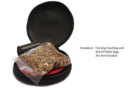 Northern Outback Juego de Cuencos para Mascotas de Viaje Premium Carrier con 2 Cuencos de Silicona Plegables aprobados por la FDA y mosquetón Bonus.