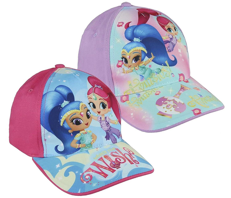 Pack 2 gorras de tela adaptables 2 diseños diferentes Shimmer   Shine  (Nickelodeon) rosa b3ea974c53f
