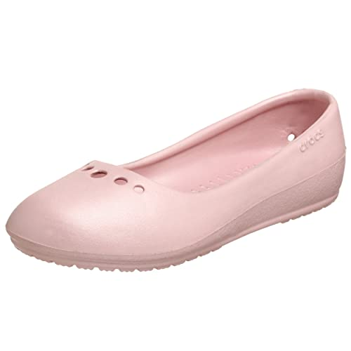 7a69385d71e7 Crocs Women s Prima Ballet Flat (W7 (USA))  Amazon.in  Shoes   Handbags