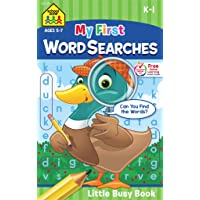 School Zone - My First Word Searches Workbook - Ages 5 to 7, Kindergarten to 1st...