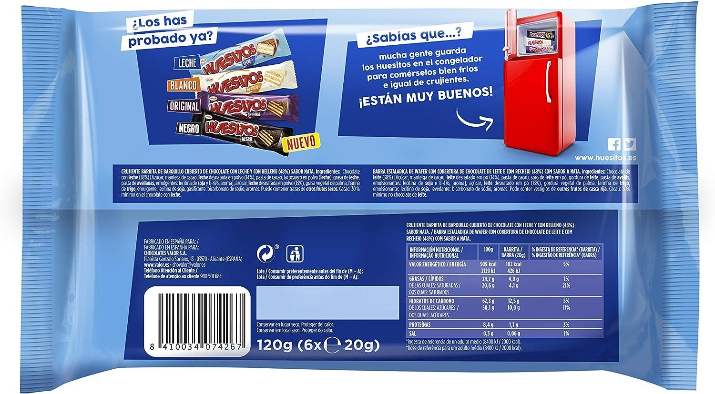 HUESITOS - Barrita Choco Con Leche P6 120 Gr: Amazon.es: Alimentación y bebidas