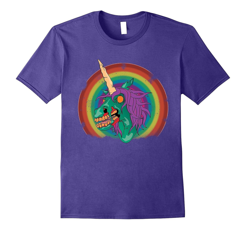 Zombie Unicorn T-Shirt - Rainbow Zombie Halloween Shirt-T-Shirt