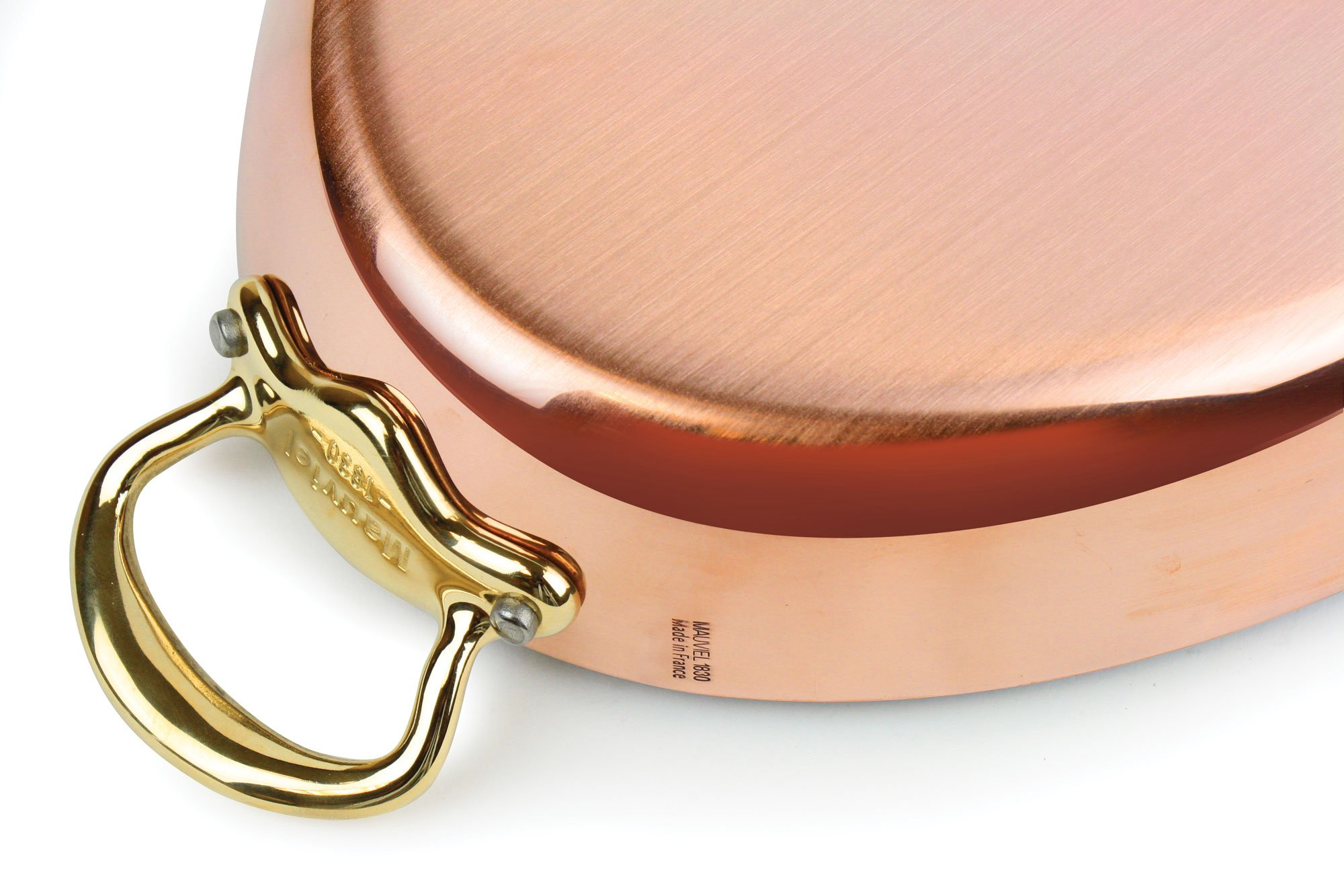 Mauviel 13.75 x 1.75-inch Copper Oval Au Gratin Pan with Bronze Handles by Mauviel (Image #4)