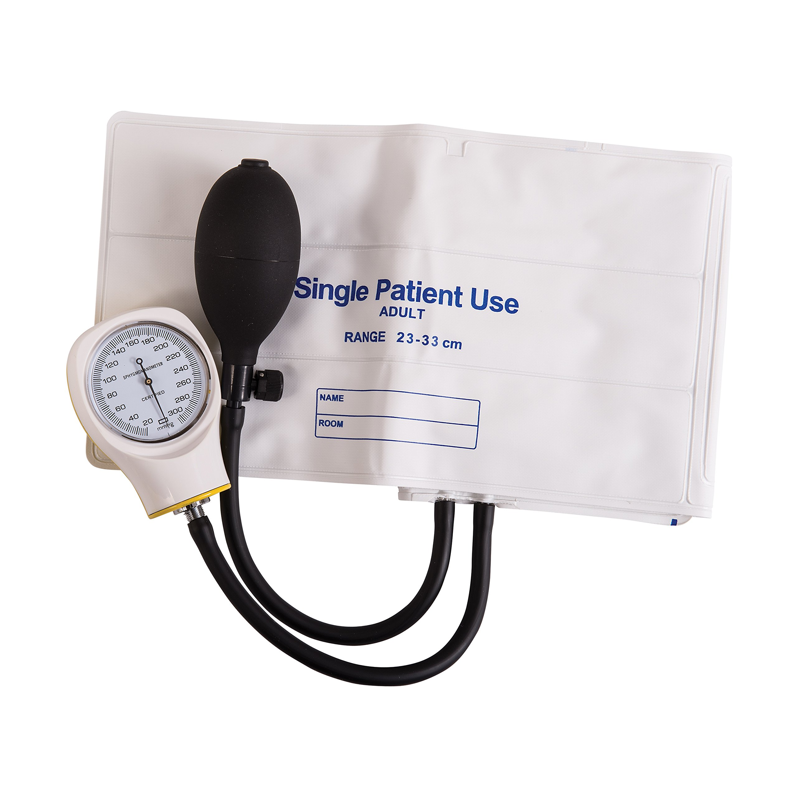 MABIS Disposable Sphygmomanometer Manual Arm Blood Pressure Cuffs, Single Use, Adult, Box of 5, White by Mabis (Image #3)