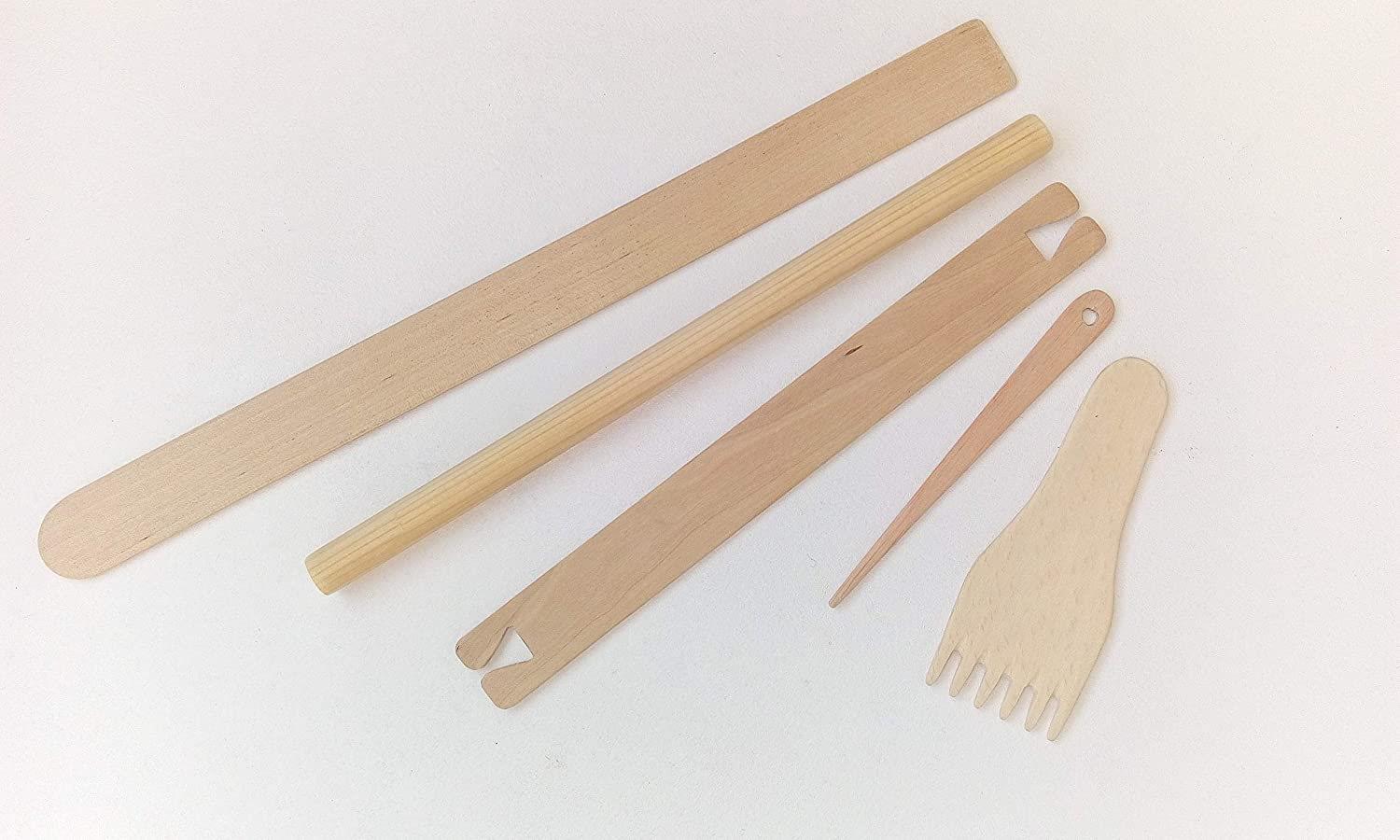 Weaving Tools Kit For Loom Included Tapestry Comb Wooden Needle Stick Shed Weaving Shuttle Wood Dowel Hanging