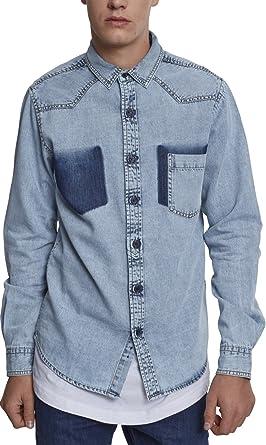 Urban Classics Denim Pocket Shirt Camisa Vaquera para Hombre: Amazon.es: Ropa y accesorios