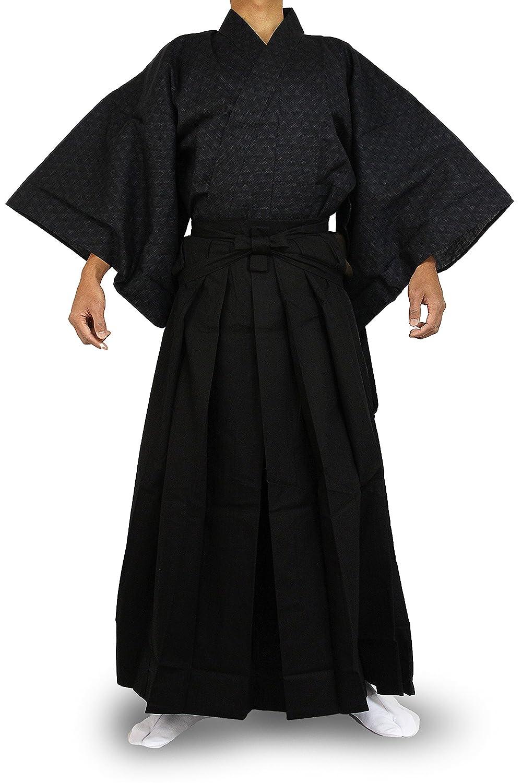 2NVBlack Edoten Japanese Samurai Hakama Uniform