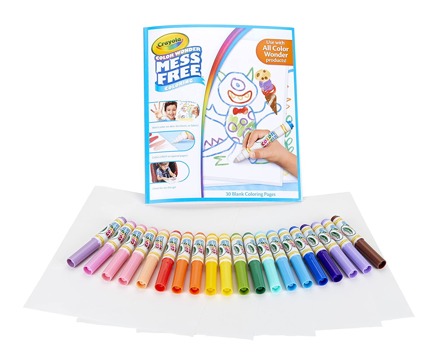 amazon com crayola color wonder markers and paper mess free