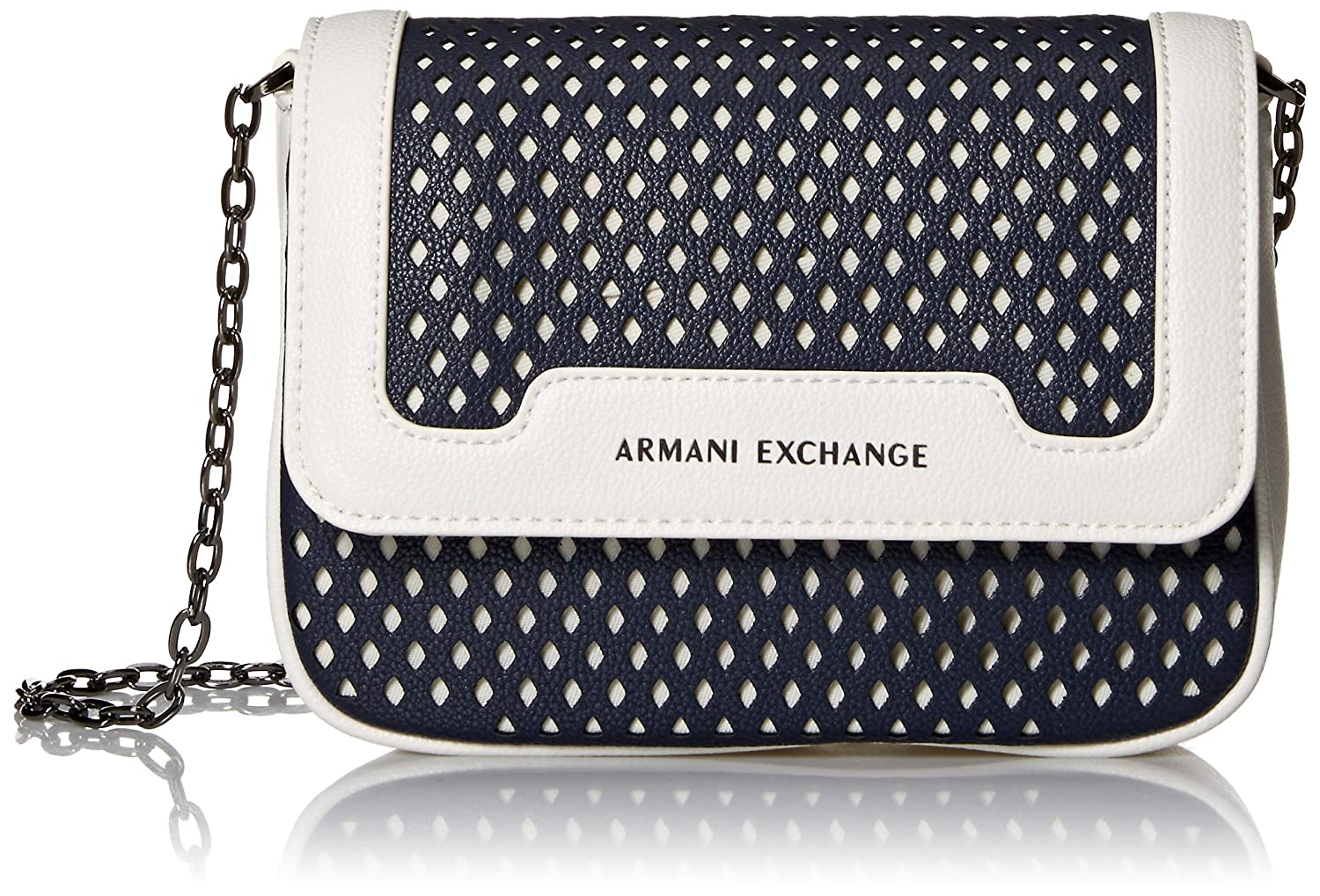 A|X Armani Exchange Small Perforated Crossbody Bag, 01538