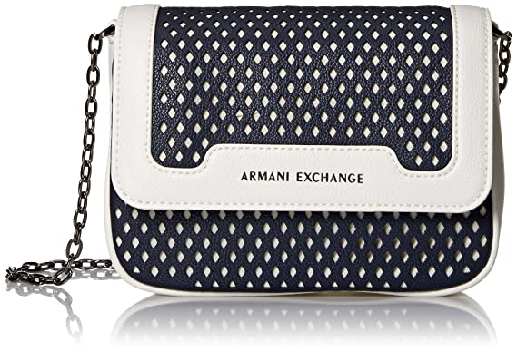 16d09a009c1b A X Armani Exchange Small Perforated Crossbody Bag, 01538  Amazon.in ...