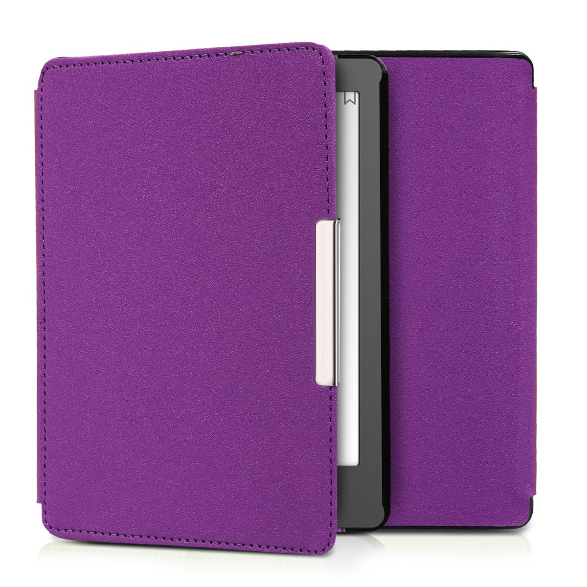 kwmobile Flip cover case for Kobo Aura Edition 2 - imitation leather foldable case in violet