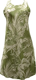product image for Paradise Found Womens Tropical Jungle Short Tank Dress Olive XS