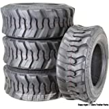 Set 4 New Super Guider Heavy Duty 10-16.5/10PR SKS1 Skid Steer Tire for Bobcat w/Rim Guard