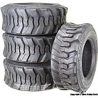Set 4 New Super Guider Heavy Duty 12-16.5/12PR SKS1 Skid Steer Tire for Bobcat w/Rim Guard