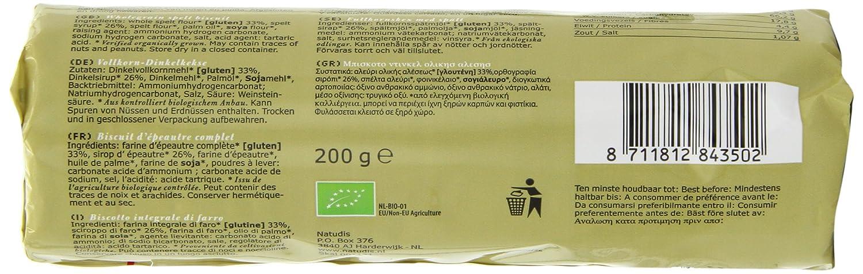 Amazon.com: Molenaartje Organic Wholegrain Spelt Biscuits 200 g (Pack of 6)