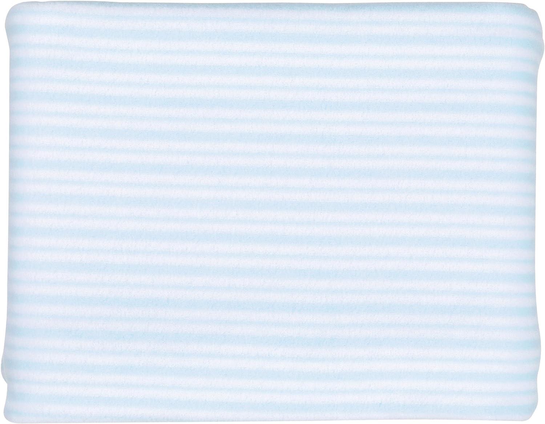 Petit Praia Orson Azul E5191110 - Manta cuna polar 150 x 110 rayas, color azul y blanco